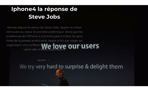 Iphone4 la réponse de Steve Jobs